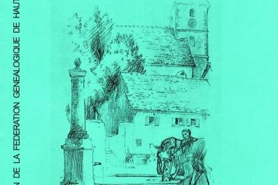 Eschentzwiller, dessin de Paul Herzog