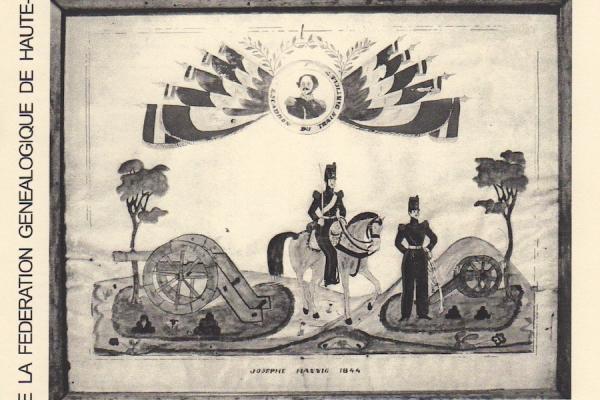 Tableau de conscrits de Joseph HAENNIG (1844)