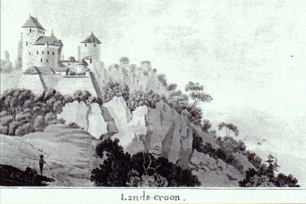 GHA - Vue de la forteresse du Landskron au XVIIIe siècle