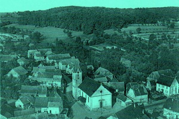Vue aérienne de Grentzingen