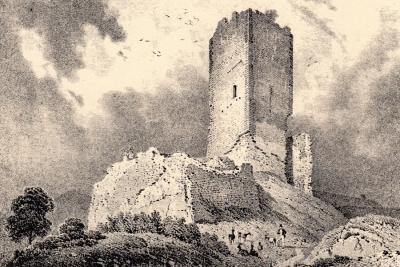 GHA - Le château de Bilstein près d'Aubure.