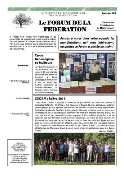 forum du n° 100